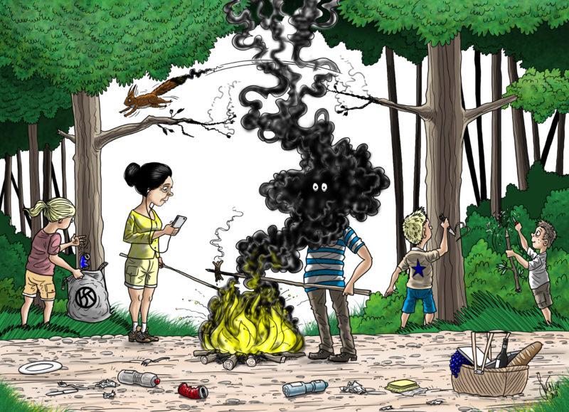 La prudence est toutefois de mise si l'on fait du feu. Illustration Silvan Wegmann